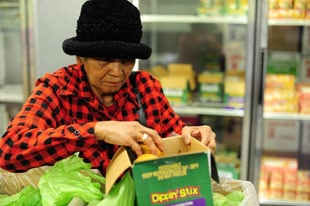 elderly woman shopping